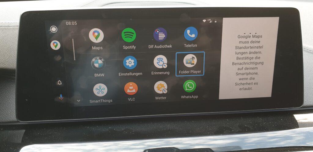 Touchscreen im Auto